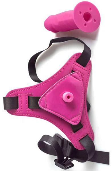 Adjustable Strap-On Belt With Realistic Dildo - Strap-on med sele 4