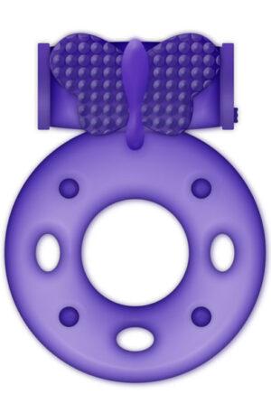 Casual Love Cock Ring Vibrating Purple - Penisring med vibrator 1