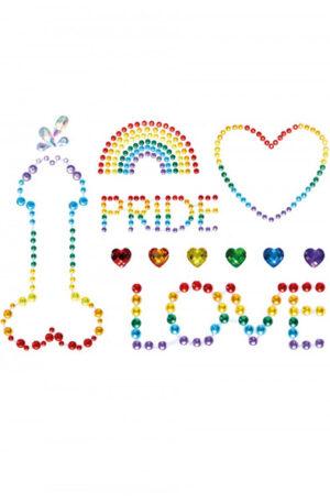 Leg Avenue Pride Bodyjewels Sticker - Kroppssmycke 1