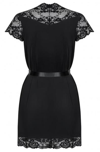 Obsessive 810-PEI-1 Peignoir Black - Sexiga underkläder 4