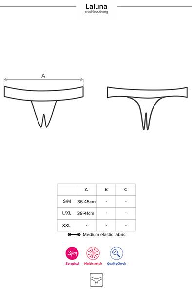 Obsessive Laluna Crotchless Panties Black - Spetstrosa 5