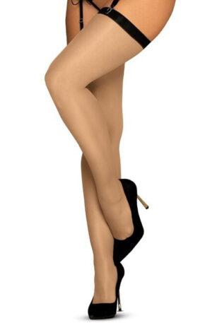Obsessive S814 Stockings Black - Stay-ups 1
