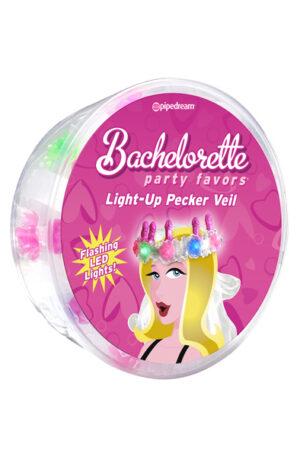 Pipedream Bachelorette Party Favors Pecker Light-Up Veil - Ljuskrona med penisar 1