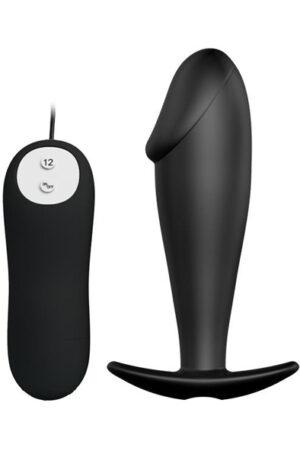 Pretty Love Anal Plug Black with Remote Control - Analplugg med vibrator 1