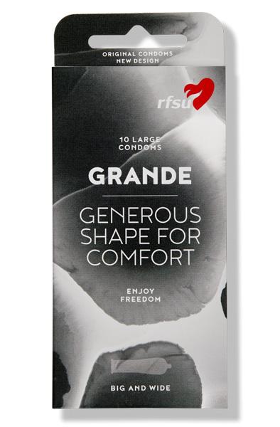 RFSU Grande Kondomer 10st - Stora kondomer 1