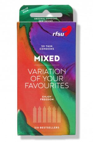 RFSU Mix Pack Kondomer 30st - Mixade kondomer 1
