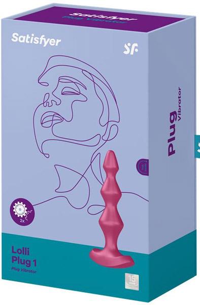 Satisfyer Lolli Plug Vibrator 1 Berry - Analkulor med vibration 3