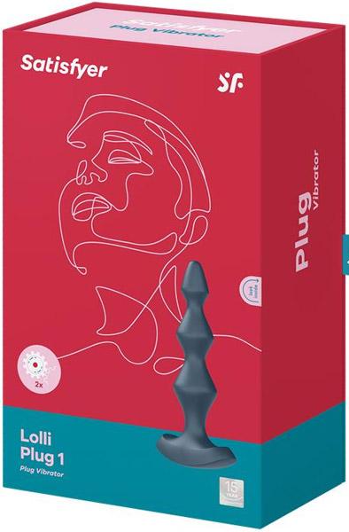Satisfyer Lolli Plug Vibrator 1 Dark Teal - Analkulor med vibration 3