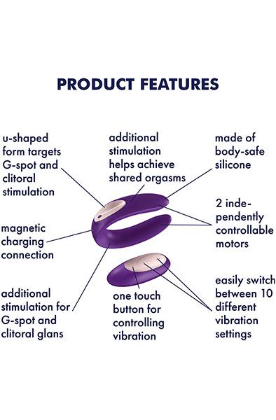 Satisfyer Partner Plus Remote - Trådlös parvibrator 2