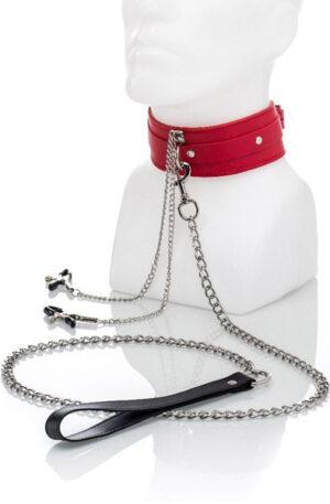 Set Of Collar & Nipple Clamps - Halsband med bröstklämmor 1