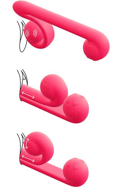 Snail Vibe Duo Vibrator Pink - Vibrator 1